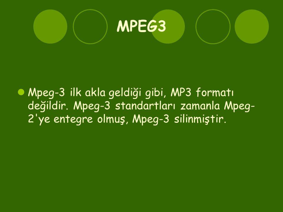 MPEG3 Mpeg-3 ilk akla geldiği gibi, MP3 formatı değildir.