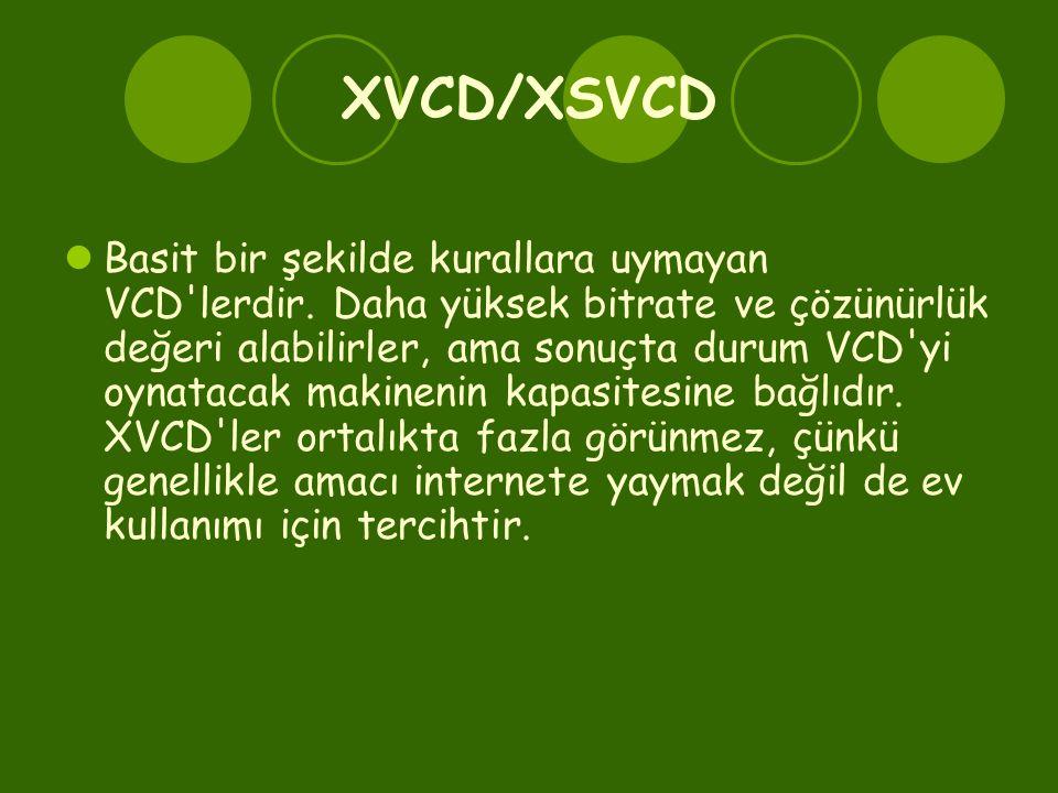 XVCD/XSVCD