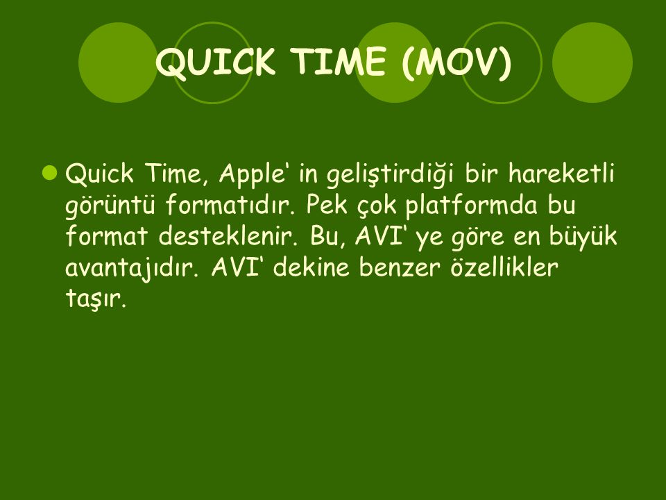 QUICK TIME (MOV)