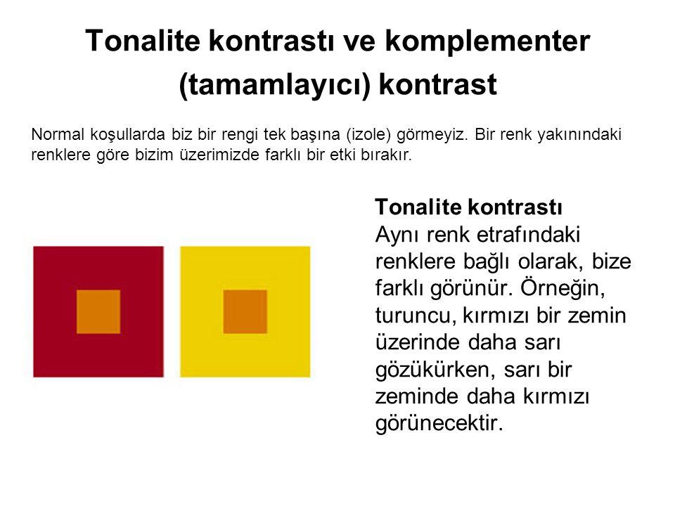 Tonalite kontrastı ve komplementer (tamamlayıcı) kontrast