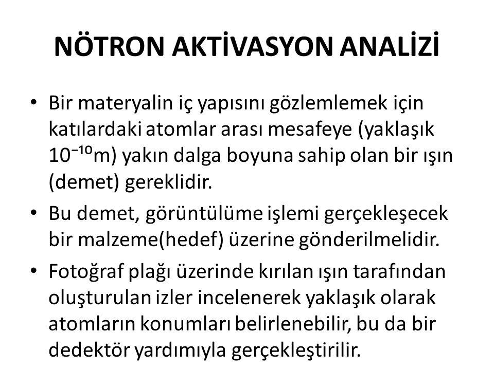 NÖTRON AKTİVASYON ANALİZİ
