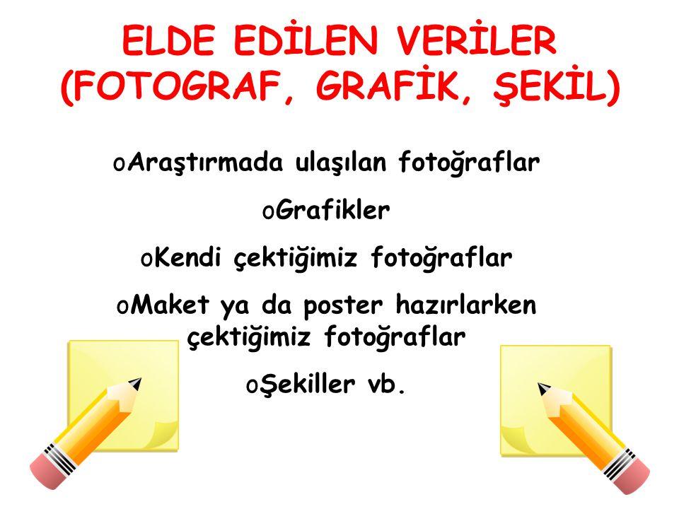ELDE EDİLEN VERİLER (FOTOGRAF, GRAFİK, ŞEKİL)
