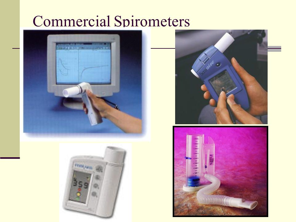 Commercial Spirometers
