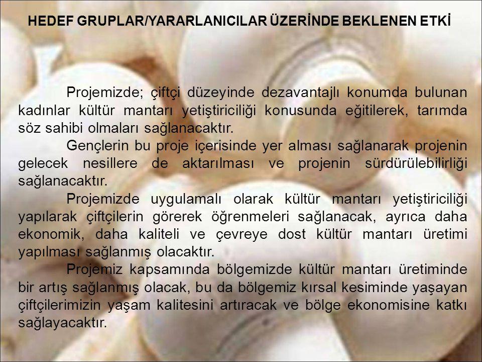 HEDEF GRUPLAR/YARARLANICILAR ÜZERİNDE BEKLENEN ETKİ