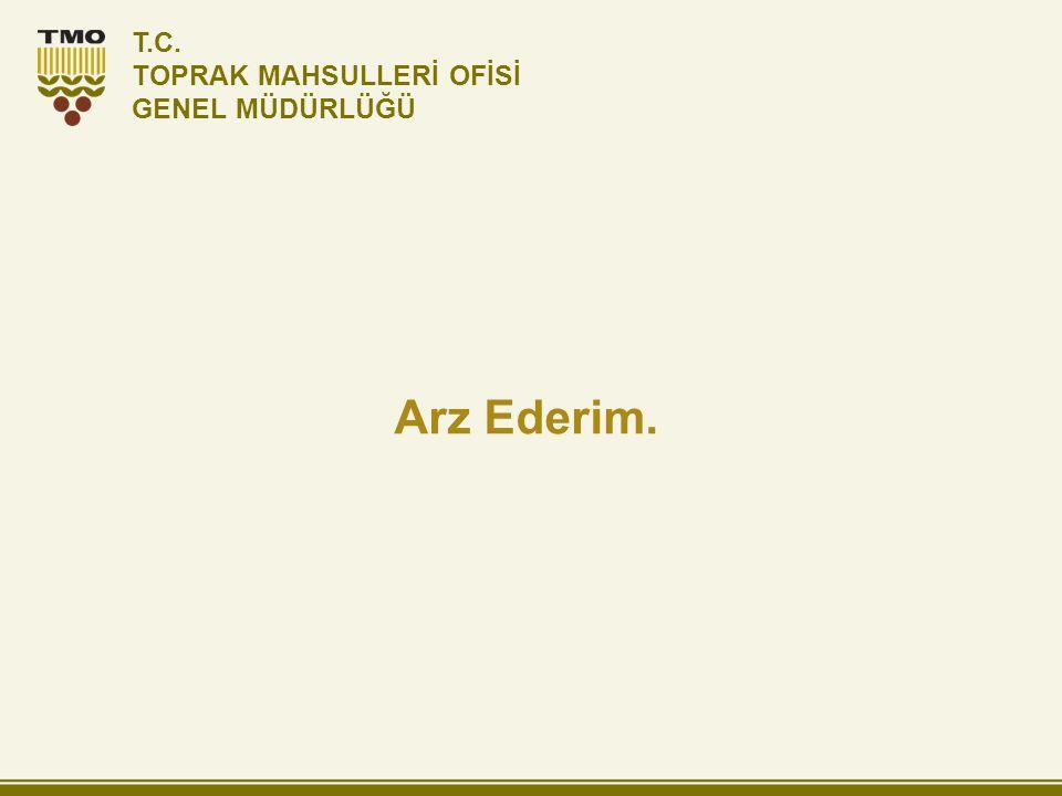 T.C. TOPRAK MAHSULLERİ OFİSİ GENEL MÜDÜRLÜĞÜ Arz Ederim.