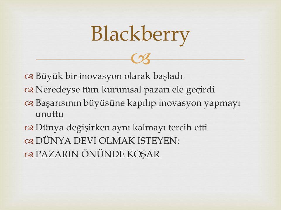 Blackberry Büyük bir inovasyon olarak başladı