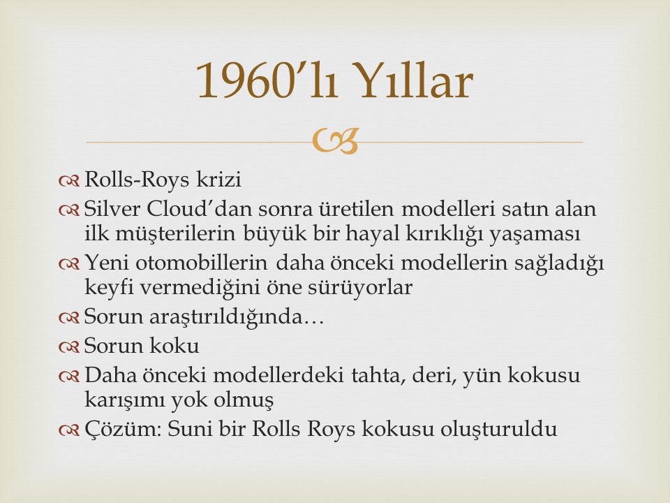 1960'lı Yıllar Rolls-Roys krizi