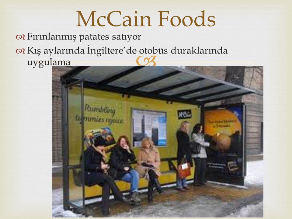 McCain Foods Fırınlanmış patates satıyor