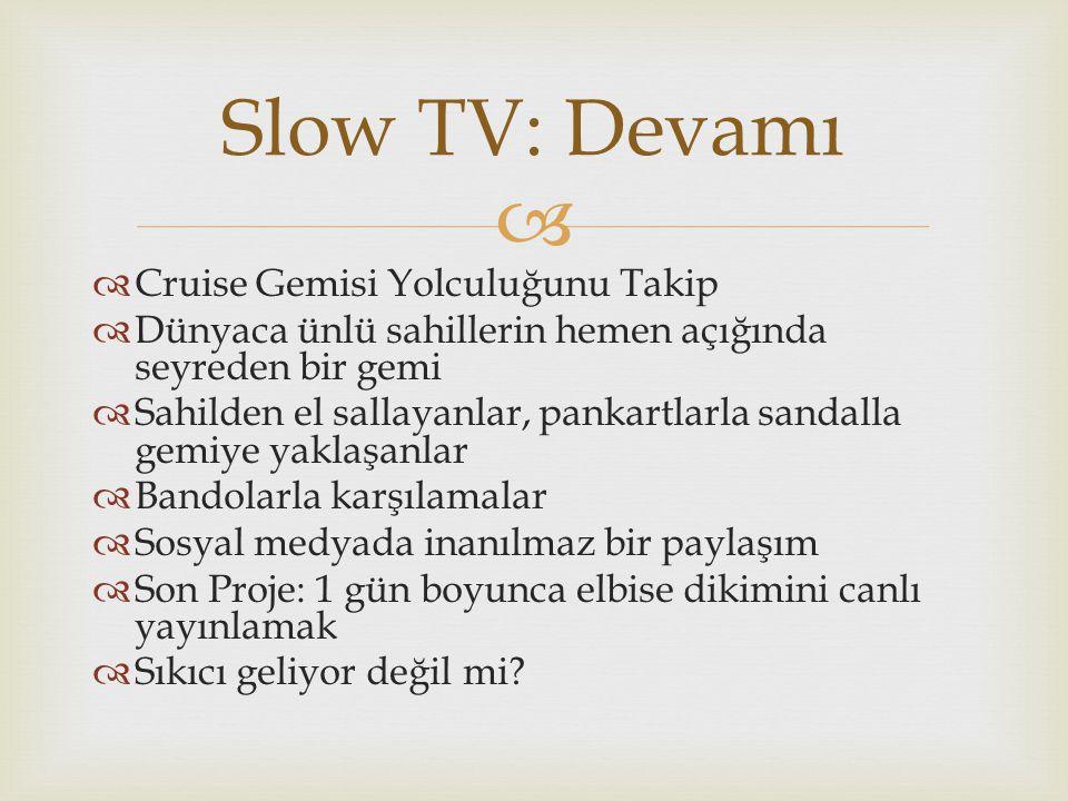 Slow TV: Devamı Cruise Gemisi Yolculuğunu Takip