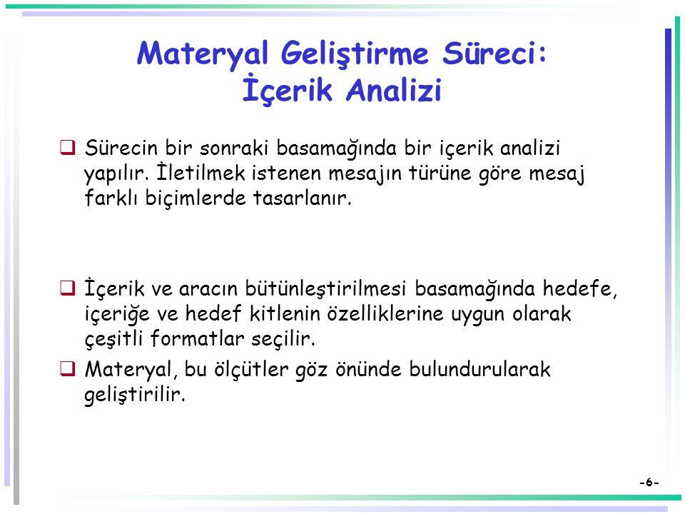 Materyal Geliştirme Süreci: İçerik Analizi