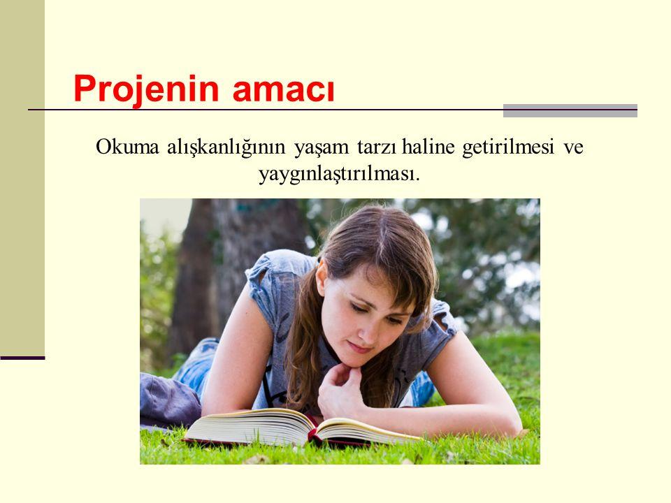 Projenin amacı Okuma alışkanlığının yaşam tarzı haline getirilmesi ve yaygınlaştırılması.