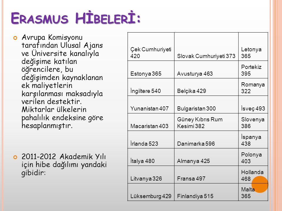 Erasmus Hİbelerİ:
