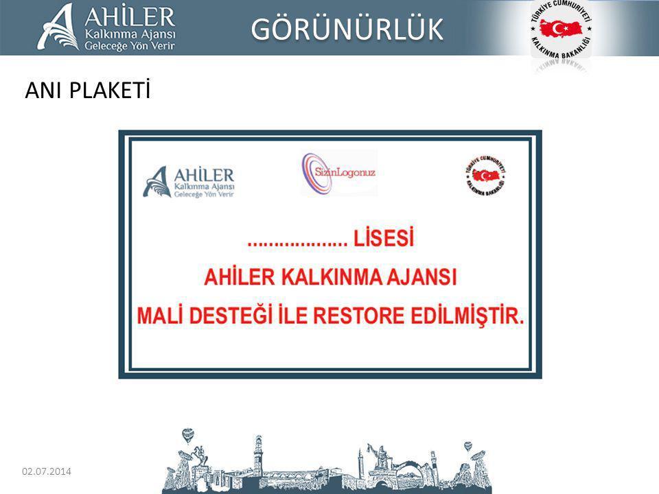 GÖRÜNÜRLÜK ANI PLAKETİ 03.04.2017