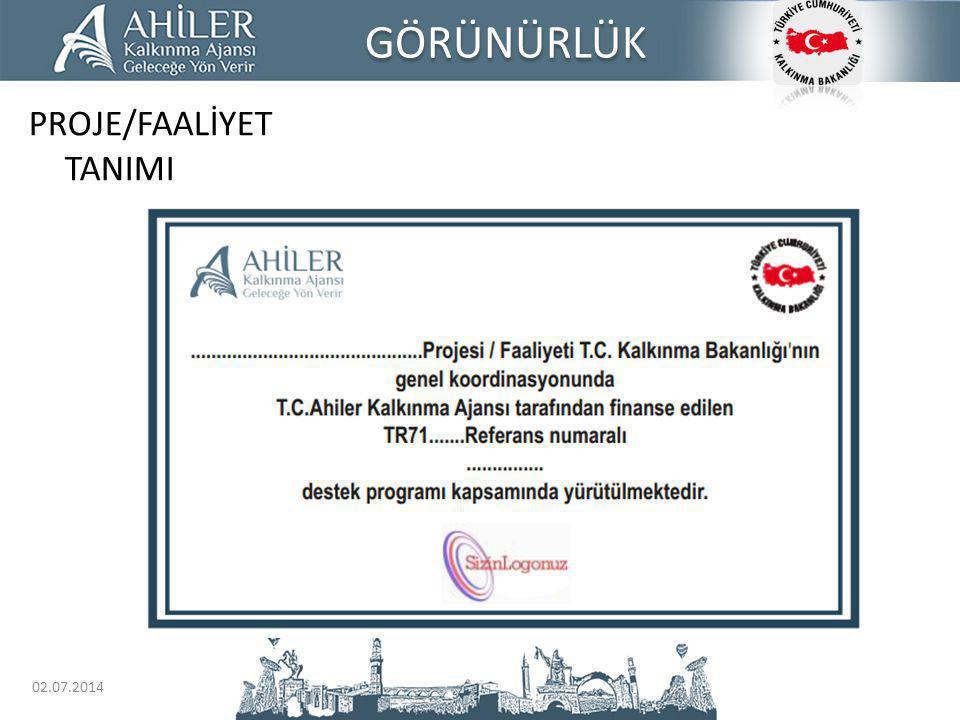 GÖRÜNÜRLÜK PROJE/FAALİYET TANIMI 03.04.2017