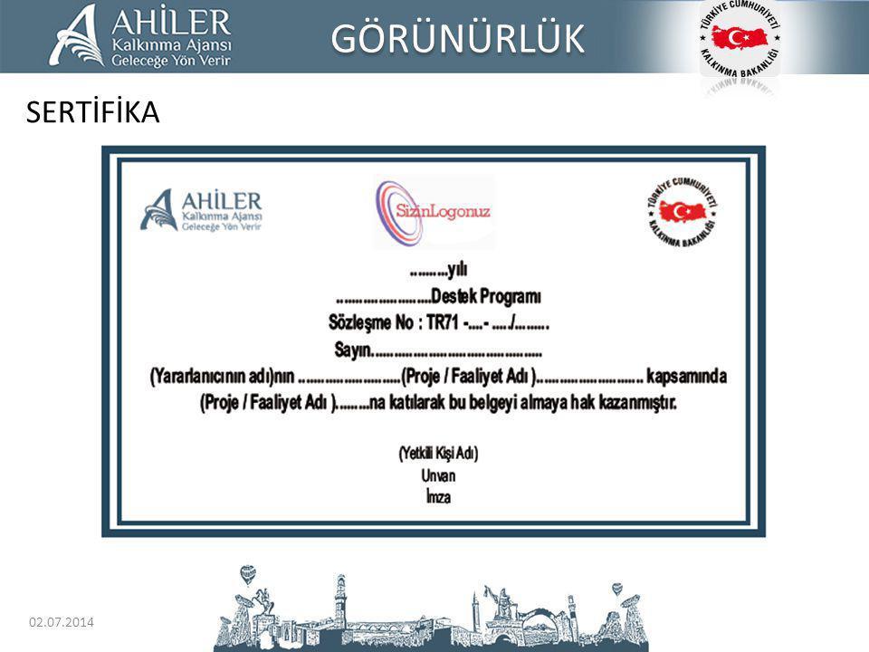GÖRÜNÜRLÜK SERTİFİKA 03.04.2017