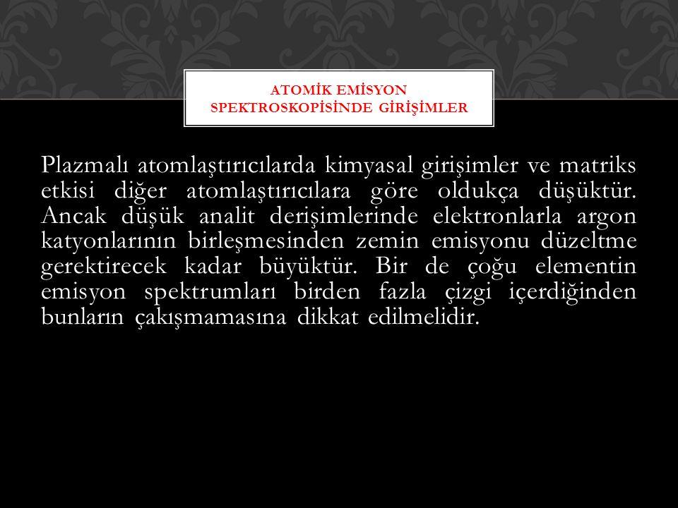 ATOMİK EMİSYON SPEKTROSKOPİSİNDE GİRİŞİMLER