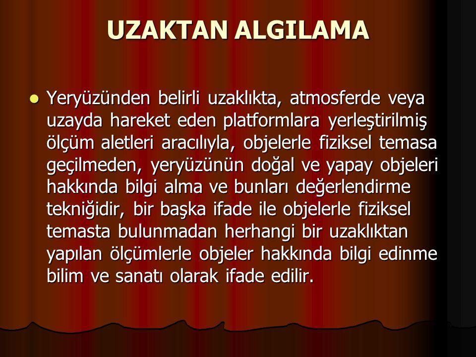 UZAKTAN ALGILAMA