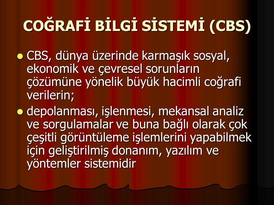 COĞRAFİ BİLGİ SİSTEMİ (CBS)