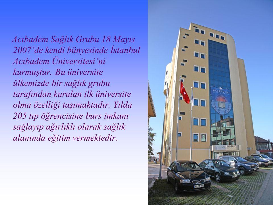 Acıbadem Sağlık Grubu 18 Mayıs 2007'de kendi bünyesinde İstanbul Acıbadem Üniversitesi'ni kurmuştur.