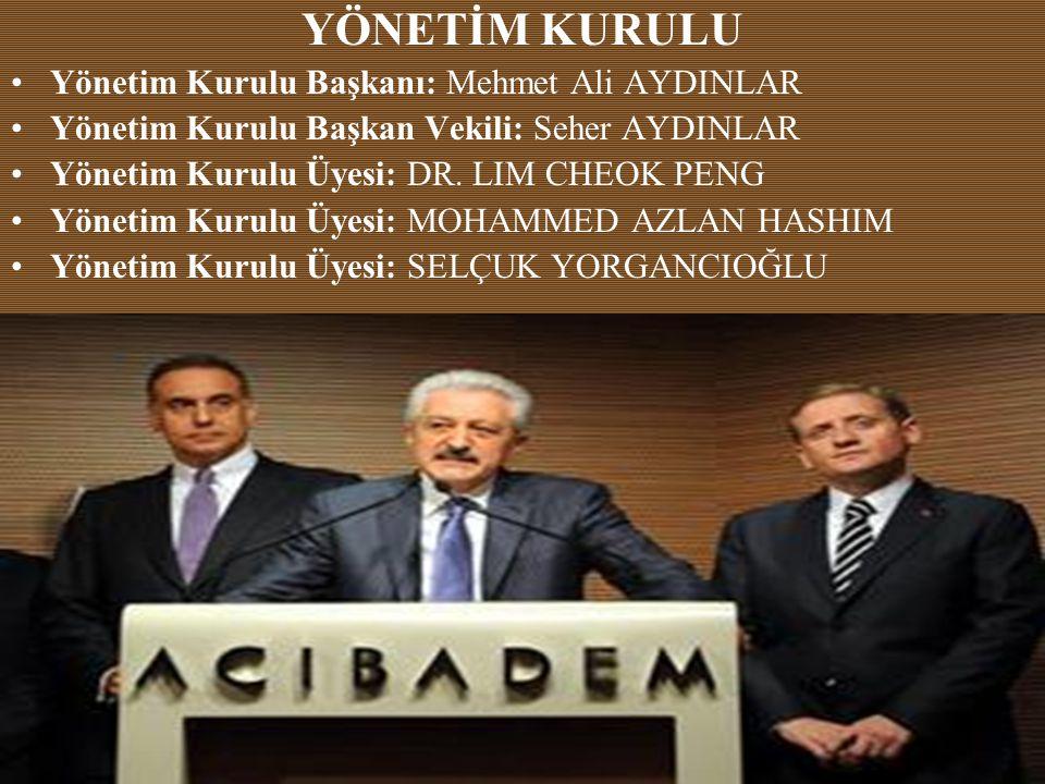 YÖNETİM KURULU Yönetim Kurulu Başkanı: Mehmet Ali AYDINLAR