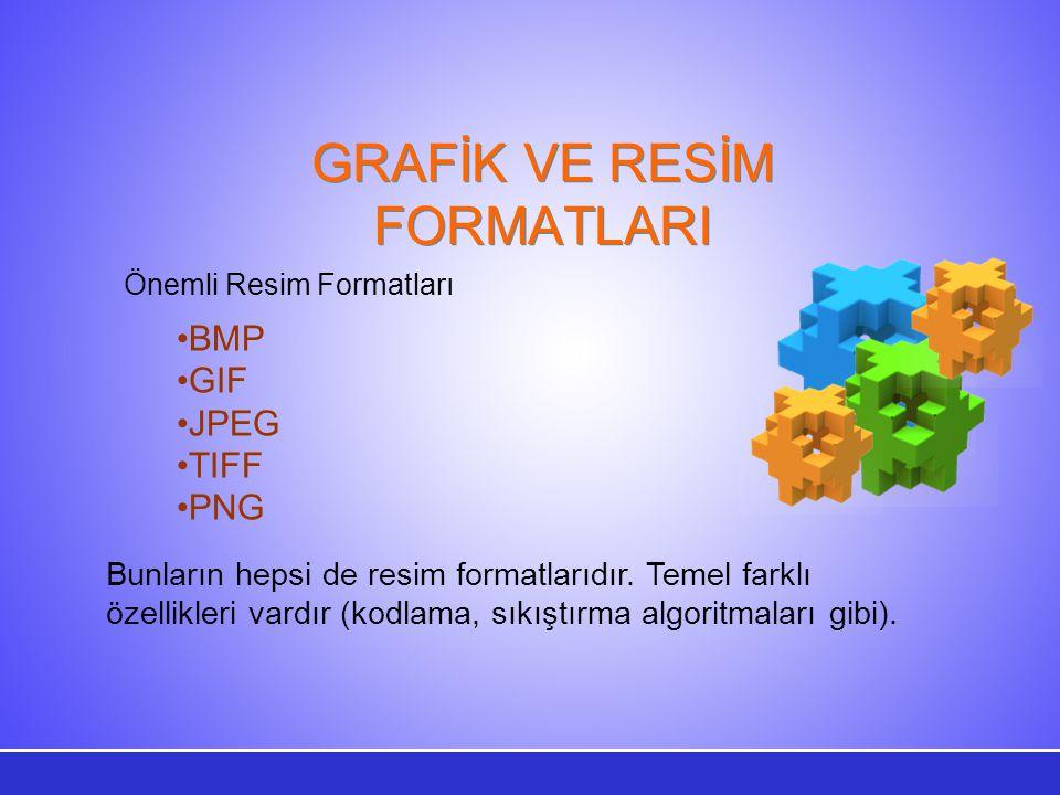 GRAFİK VE RESİM FORMATLARI
