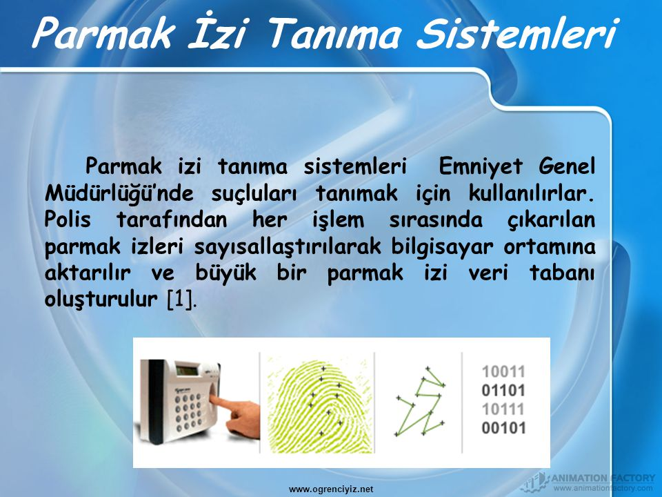 Parmak İzi Tanıma Sistemleri
