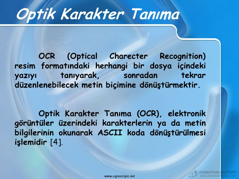 Optik Karakter Tanıma