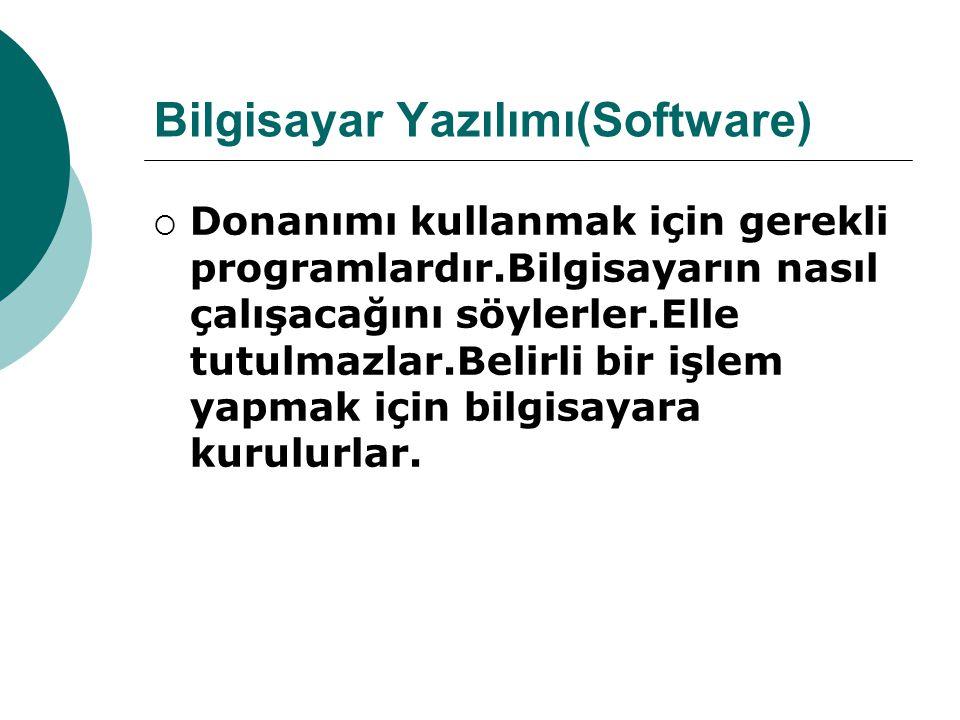 Bilgisayar Yazılımı(Software)