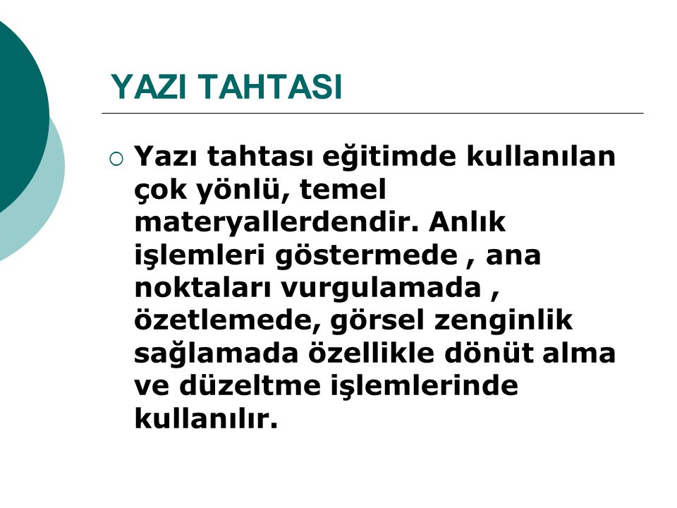 YAZI TAHTASI