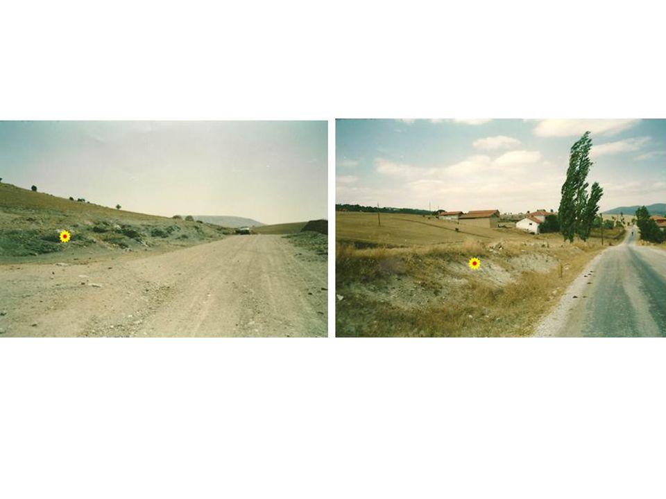 Bazı köylerin girişinde çıkışında bu toprağı görebiliriz.