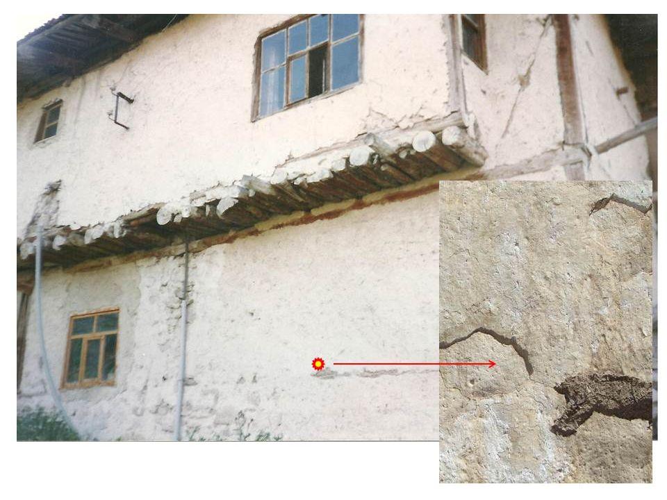 Bahsettiğimiz asbestle karışık toprakla sıvalı evleri ve sıvayı kolayca tanırız.