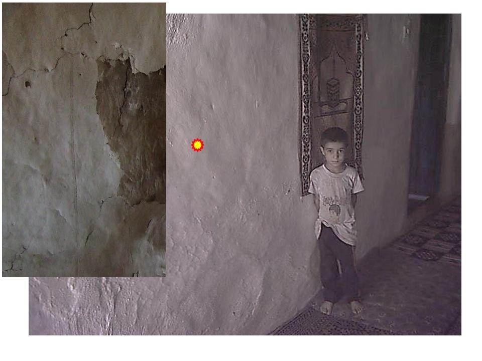 Evin içinde de asbestli sıvayı kolayca tanırsınız