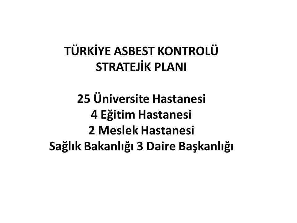 TÜRKİYE ASBEST KONTROLÜ Sağlık Bakanlığı 3 Daire Başkanlığı