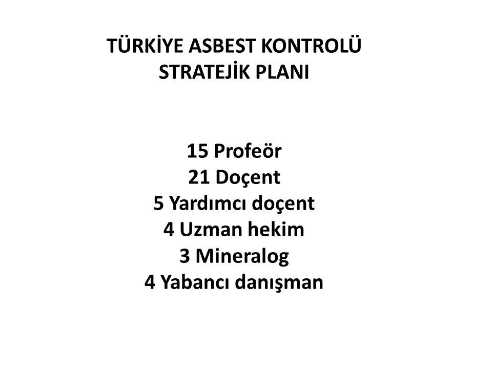 TÜRKİYE ASBEST KONTROLÜ