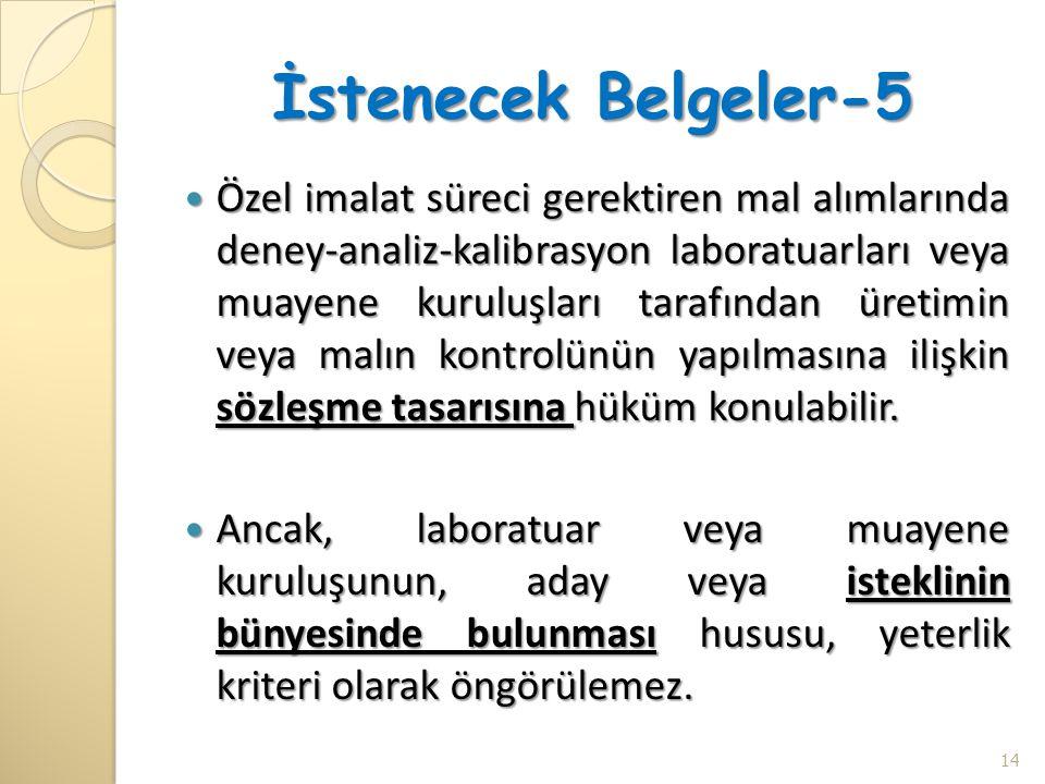 İstenecek Belgeler-5