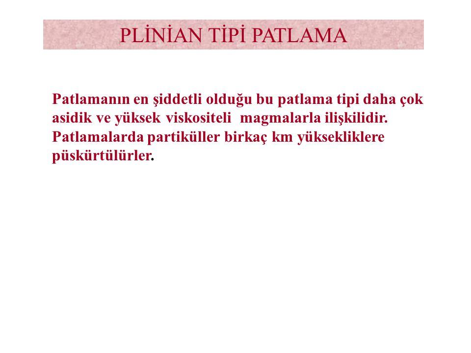 PLİNİAN TİPİ PATLAMA