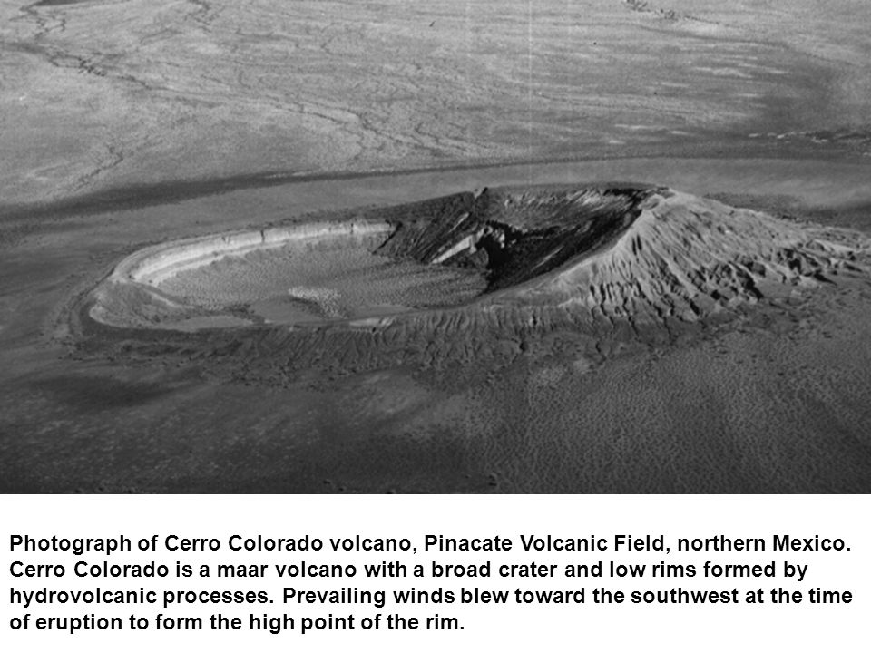 Photograph of Cerro Colorado volcano, Pinacate Volcanic Field, northern Mexico.