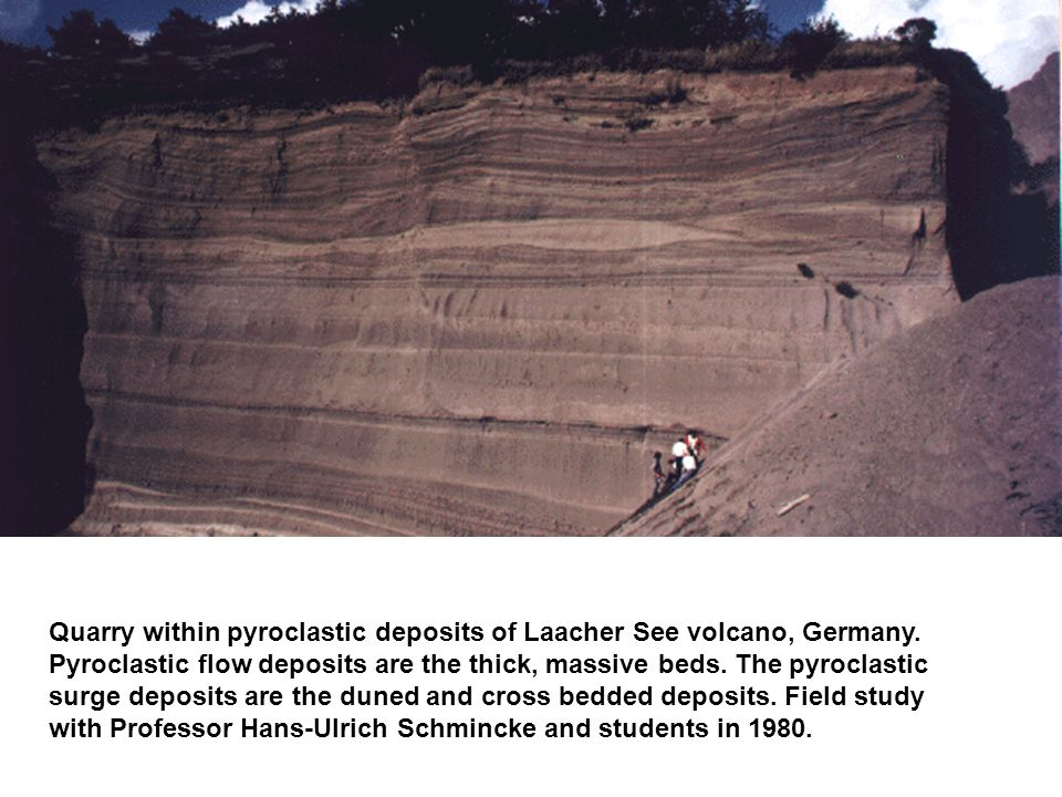 Quarry within pyroclastic deposits of Laacher See volcano, Germany