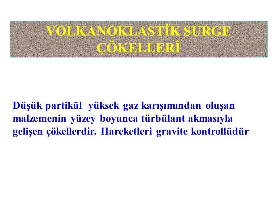 VOLKANOKLASTİK SURGE ÇÖKELLERİ