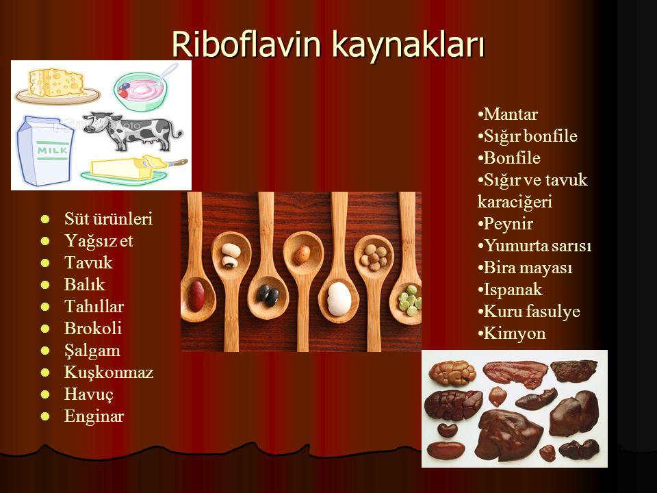 Riboflavin kaynakları