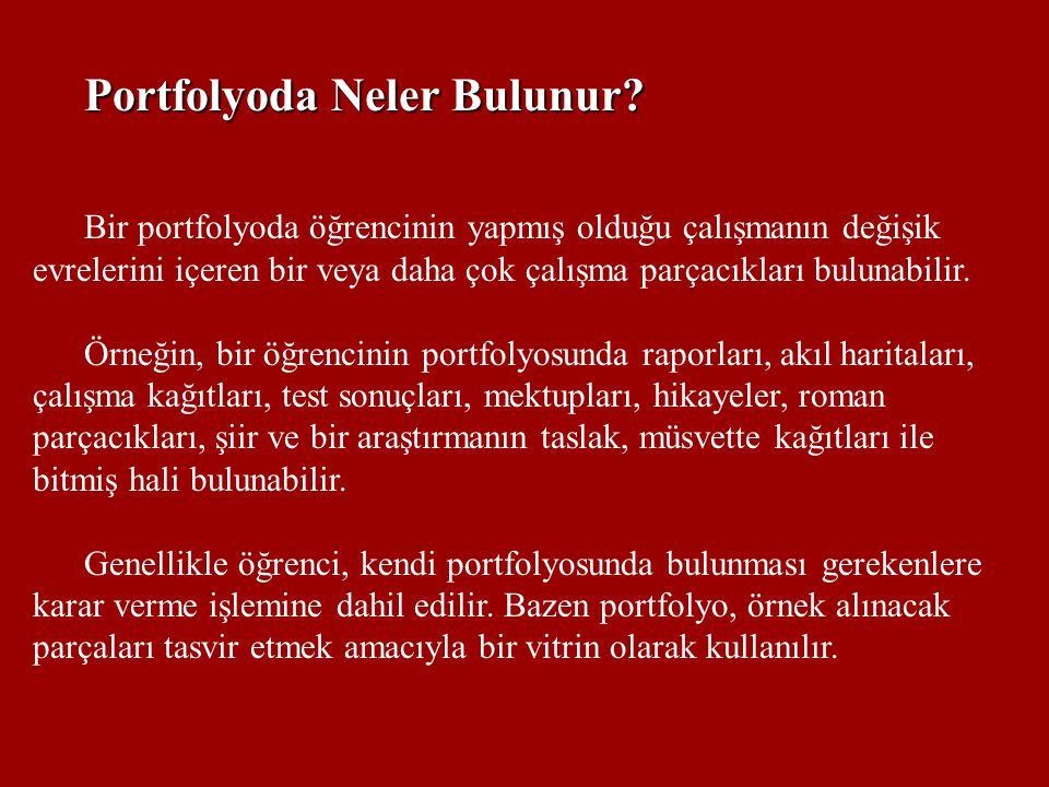Portfolyoda Neler Bulunur