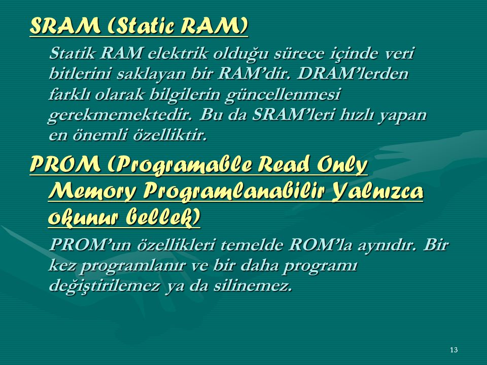 SRAM (Static RAM)
