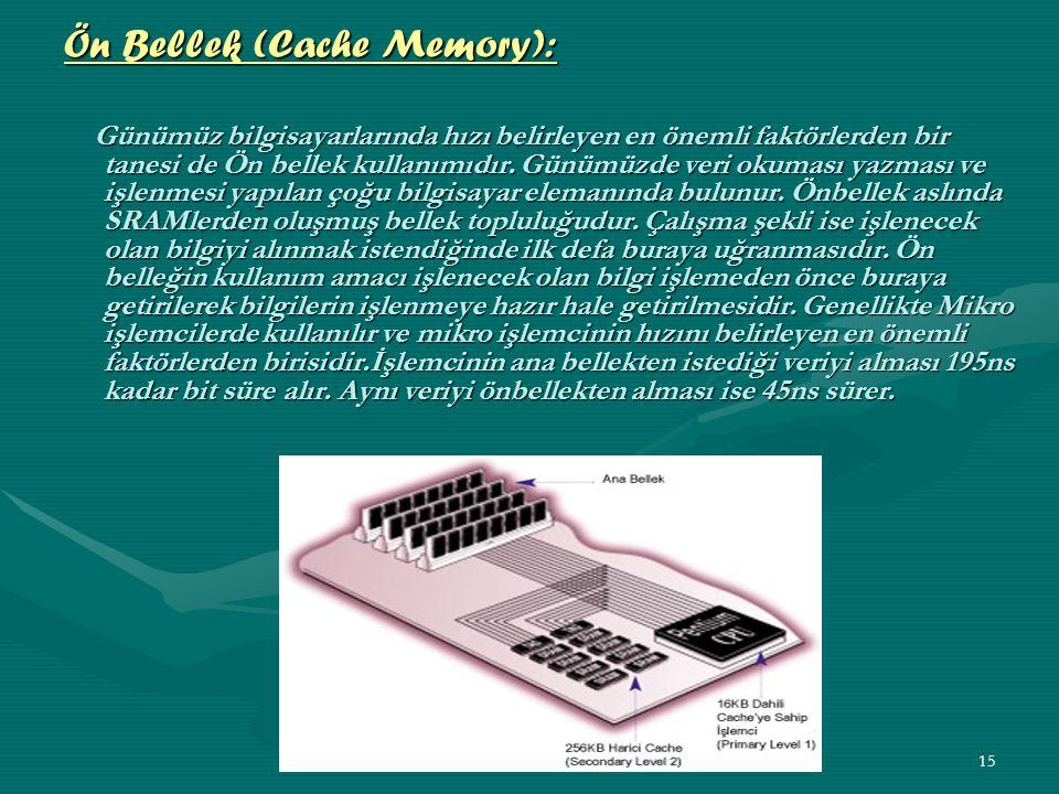 Ön Bellek (Cache Memory):