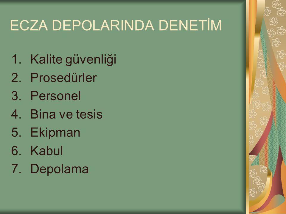 ECZA DEPOLARINDA DENETİM