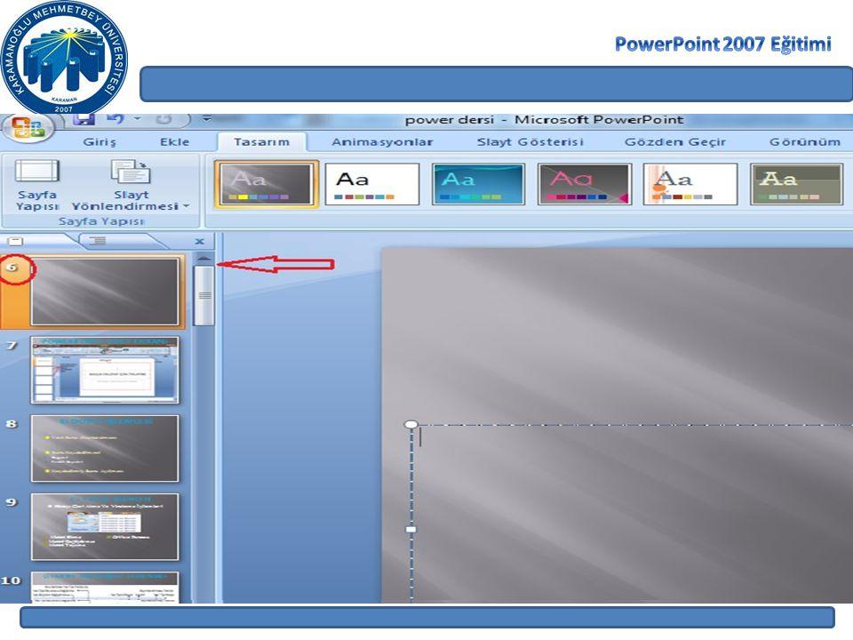 PowerPoint 2007 Eğitimi