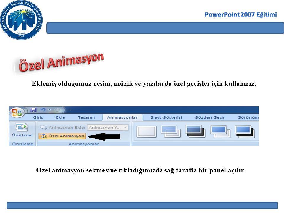 Özel Animasyon PowerPoint 2007 Eğitimi