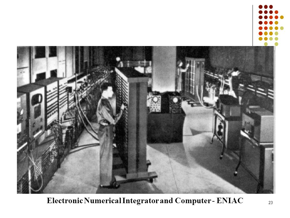 Electronic Numerical Integrator and Computer - ENIAC