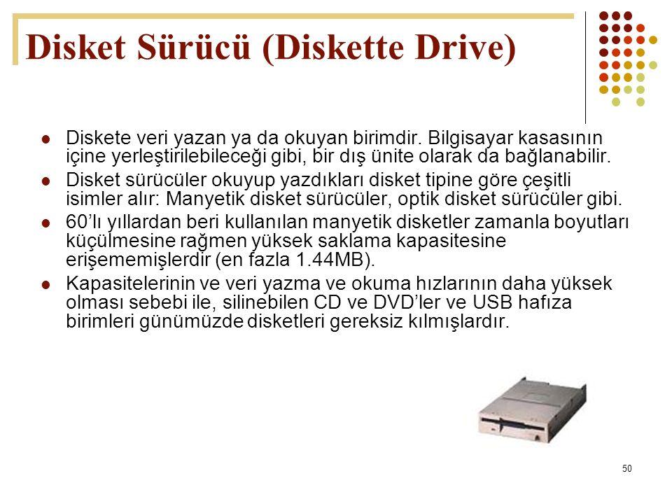Disket Sürücü (Diskette Drive)