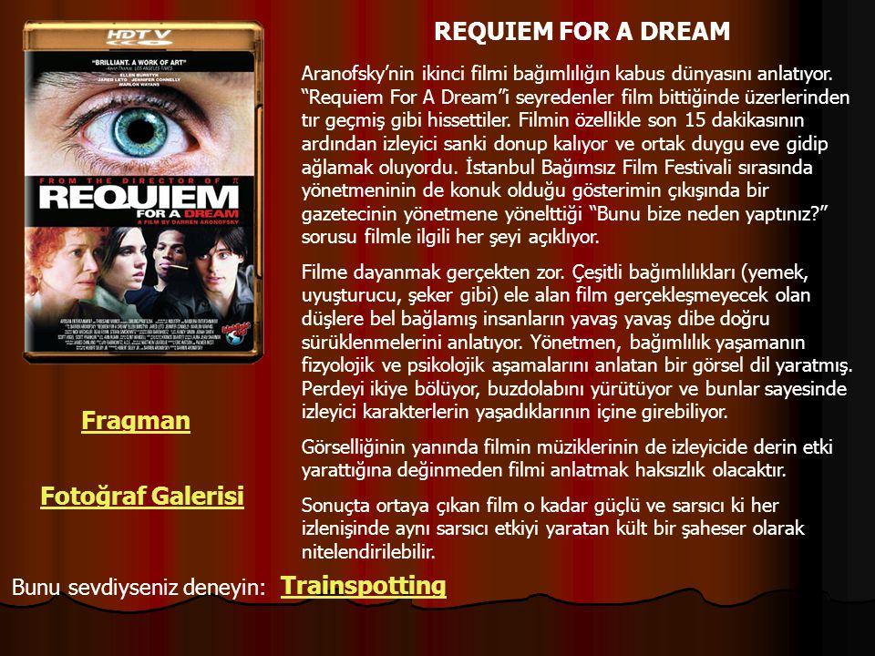 REQUIEM FOR A DREAM Fragman Fotoğraf Galerisi Trainspotting