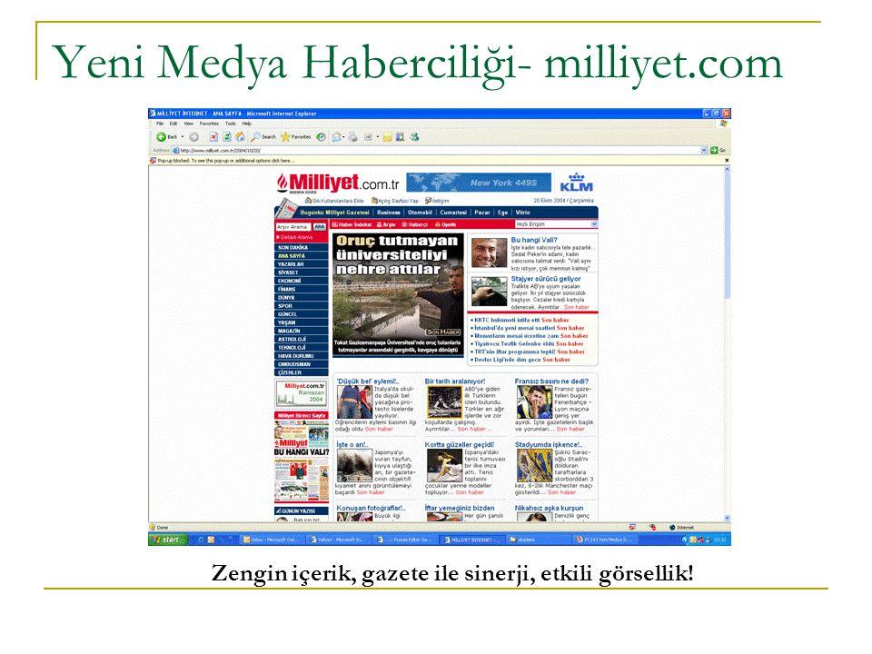 Yeni Medya Haberciliği- milliyet.com